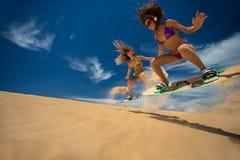 kite surfer in de golf royalty-vrije stock afbeeldingen