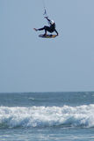 Kite Surfer Defying Gravity Stock Images