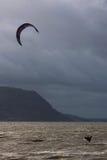 Kite Surfer jumping stock image
