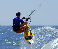 Kite surfer makes a splash Stock Photos