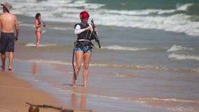 Kite surfer stock video