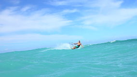 Kite Surfer In Ocean, Slow Motion