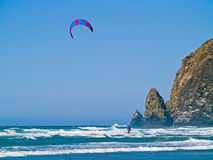 Kite Surfer out on the Ocean Royalty Free Stock Image