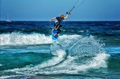 Kite surfer Stock Image