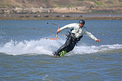 Kite surfer in Portland Harbour Stock Photography
