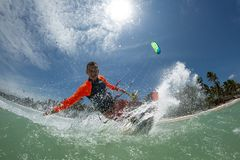 Kite surfer Stock Images