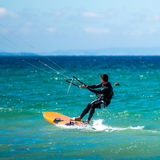 Kite Surfer in sea waves Royalty Free Stock Photo