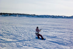 Kite surfer. In the snow Stock Photo