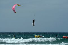Kite surfer in Spain championship ki Stock Photo