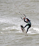 Kite surfer stunts Stock Images
