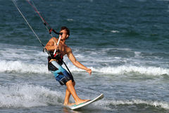 Kite surfer,  Valencia, Spain Royalty Free Stock Images