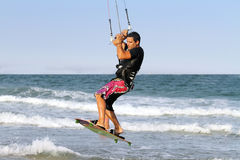 Kite surfer,  Valencia, Spain Stock Images