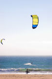 Kite Surfers. On a California beach royalty free stock photography