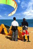 Kite surfers Stock Photo