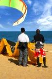 Kite Surfers Stock Photo