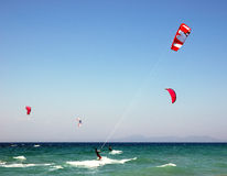 Kite surfers Royalty Free Stock Image
