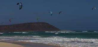 Kite beach at Cape Verde royalty free stock photo