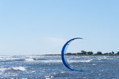 A kite surfers kite Royalty Free Stock Image