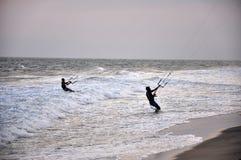 Free Kite Surfers Kitesurfing On The Sea Royalty Free Stock Images - 84297669