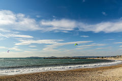 The kite-surfers Stock Images
