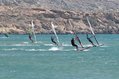 Kite surfers Stock Images