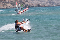 Kite surfers stock photography