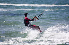 Kite-surfing Stock Image