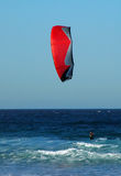 Kite surfing. In ocean, photo taken at Maroubra Beach in Sydney Stock Photography