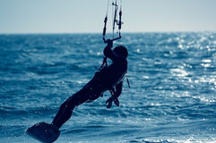 Kite surfing Royalty Free Stock Images