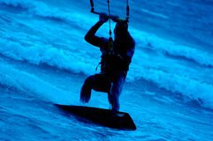 Kite surfing Royalty Free Stock Photos