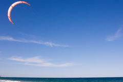 Kite Surfing At The Beach Stock Image