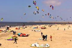 Kite surfing beach Royalty Free Stock Photo