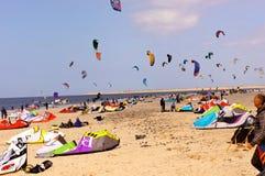 Kite surfing beach Stock Photography