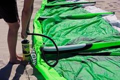Kite surfing in brazil Royalty Free Stock Image