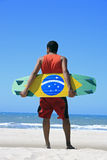 Kite surfing in brazil Royalty Free Stock Photo