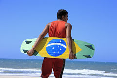 Kite surfing in brazil Stock Photo