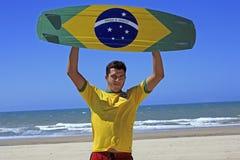 Kite surfing in brazil Stock Image