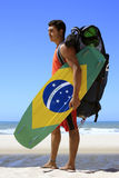 Kite surfing in brazil Royalty Free Stock Image