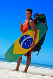 Kite surfing in brazil Stock Photos