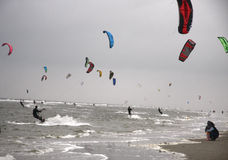 Kite surfing Stock Image