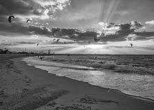 Kite Surfing in Dubai Stock Image