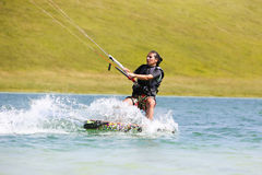 Kite Surfing Girl Royalty Free Stock Images