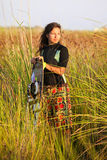 Kite Surfing Girl Royalty Free Stock Image