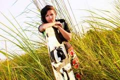 Kite Surfing Girl Stock Photography