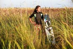 Kite Surfing Girl Stock Photos