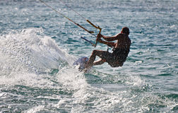 Kite Surfing Gold Coast Australia Royalty Free Stock Photos