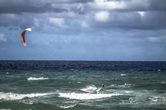 Kite Surfing at Gold Coast Royalty Free Stock Image