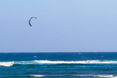 Kite Surfing in Hawaii Stock Image