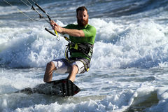 Kite Surfing. In Huntington Beach CA Stock Photo