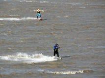 Kite surfing kite sails stock photos